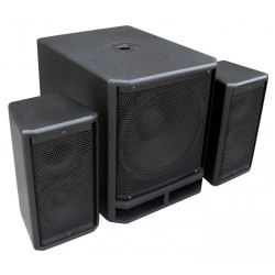 "PD Combo 1500W 2 x satélites 8"" + Subwoofer de 15"" Power Dynamics"