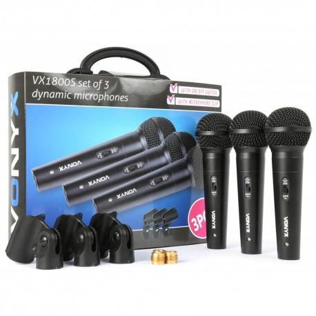 VX-1800S Micrófono dinámico Vonyx set 3