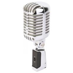 PDS-M02 Micrófono estilo retro cromado Power Dynamics