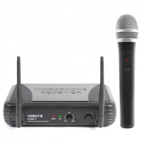 STWM-711 Micrófono inalámbrico Diversity VHF 1 canal Skytec