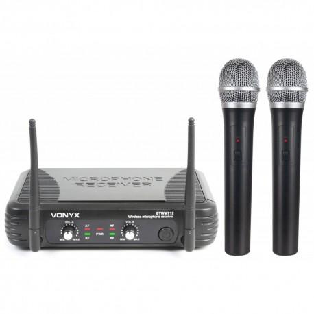 STWM-712 Micrófono inalámbrico Diversity VHF 2 canales Skytec