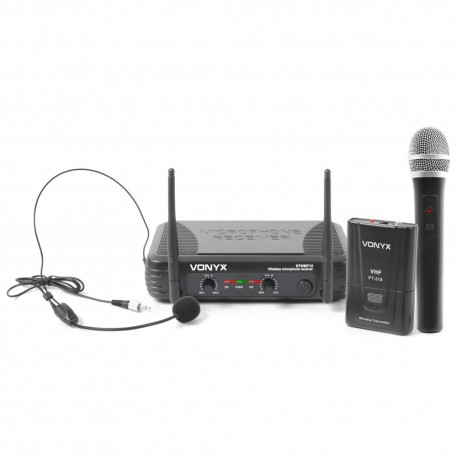 STWM-712C Micro VHF 2 canales combi Diversity Skytec
