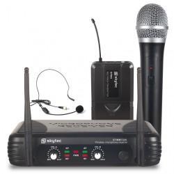 STWM-722C Micro UHF Diversity 2 canales combi Skytec