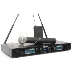PD-732C Micro inalámbrico 2x16 canales UHF True Diversity combi Power Dynamics