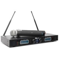 PD-732H Micro inalámbrico 2x16 canales UHF True Diversity con 2 micrófonos Power Dynamics