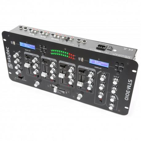 STM-3010 Mezclador de 4 canales con USB/MP3 Skytec