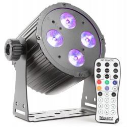 BeamZ BAC404 Foco aluminio LED 4x18W 6 en 1 LEDs