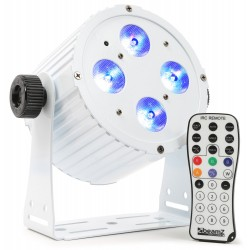 BeamZ BAC404W Foco aluminio LED spot 4x18W 6-in-1 LEDs