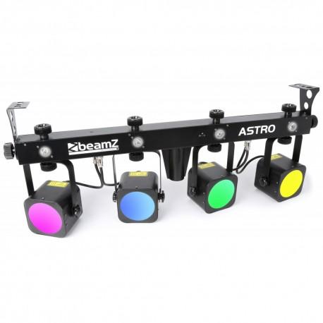 BeamZ Professional ASTRO Barra PAR 4x20W LED COB + 4x1W blanco