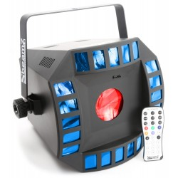 BeamZ Cub4 II LED 2x10W Quad + 64 RGB DMX IR mando