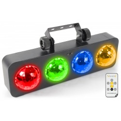 BeamZ DJ banco BX 4 LEDs RGBA mando a distancia