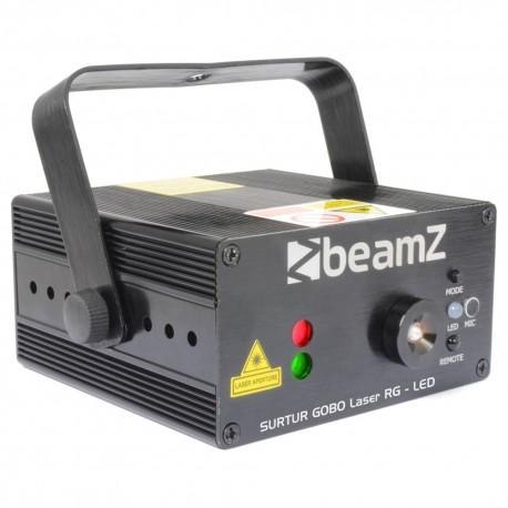 BeamZ Surtur láser rojo y verde con gobo con LED + mando a distancia