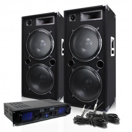 Pack 2 altavoces MAX215 + amplificador de alquiler