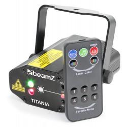 BeamZ Titania doble láser 200mW RG gobo IRC