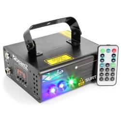 BeamZ Surtur II doble láser RG gobo DMX IRC LED 3W azul