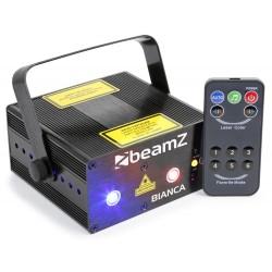 BeamZ Bianca doble láser 330mW RGB gobo IRC