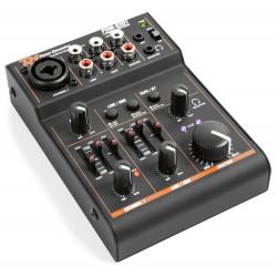 PDM-D301 Mezclador 3 canales USB y tarjeta de sonido Power Dynamics
