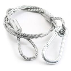 BeamZ Cable de seguridad 95cm x 5mm, 65kg