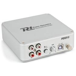 PDX-015 USB 2.0 Pre amplificador de phono con software Power Dynamics