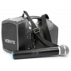 ST-010 Megáfono con micro inalámbrico y batería Vonyx