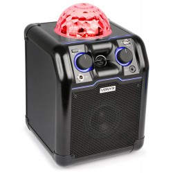 SBS-50B Bafle party negro con bola RGB LED Vonyx