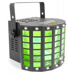 BeamZ Radical II derby LED con láser RG y strobo