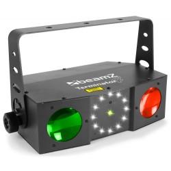 BeamZ Terminator IV LED doble moon con láser y strobo