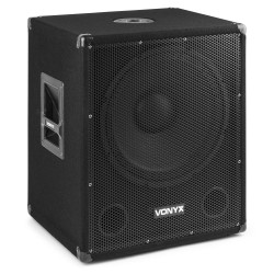 "SMWBA15MP3 Subwoofer bi-amplificado 15"" Bluetooth y MP3 Vonyx"