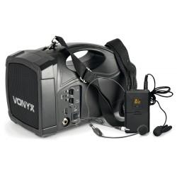 ST-012 Megáfono con micro inalámbrico y batería Vonyx