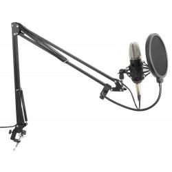 CMS400 Conjunto micrófono de estudio con soporte y paravientos Vonyx