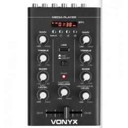 STM-500BT Mezclador 2 canales BT/MP3/Display, Vonyx