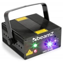 BeamZ Helene doble láser RG multipunto IRC LED 3W azul