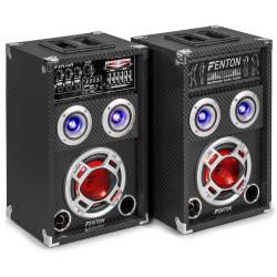 "KA-06 Pareja de altavoces autoamplificados 6.5"" USB/BT LED"