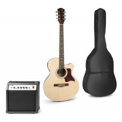 Showkit Conjunto guitarra acústica electrificada natural