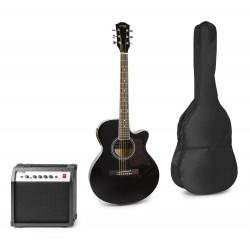 Showkit Conjunto guitarra acústica electrificada negra