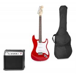 Gigkit Conjunto guitarra eléctrica color rojo