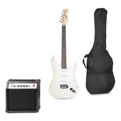 Gigkit Conjunto guitarra eléctrica color blanco