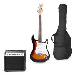 Gigkit Conjunto guitarra eléctrica sunburst